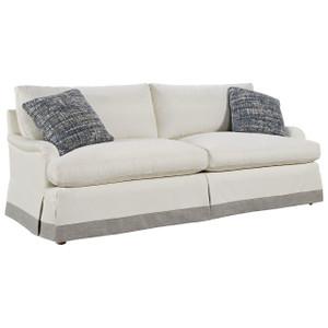 "Carmichael English Rolled Arm Skirted Sofa 89"""