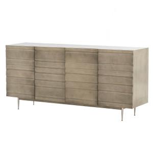 """Crespi Industrial Modern Metal Clad 4 Door Media Sideboard 70"""""""