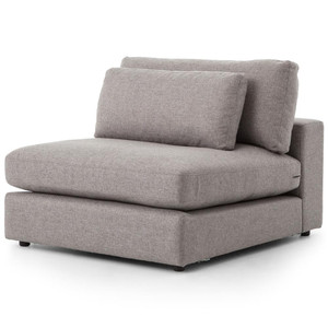 Bloor Modern Gray Armless Sectional Chair