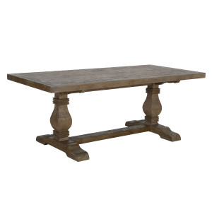 Farmhouse Reclaimed Wood Double Trestle Table 78""