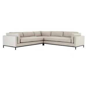Grammercy Modern Neutral Fabric 3 Piece Corner Sectional Sofa
