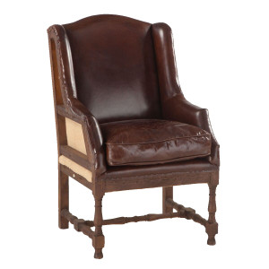 Churchill Deconstructed Vintage Leather Wing Chair