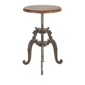Hobbs French Industrial Crank Adjustable Stool