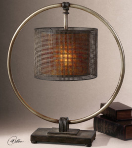 Dalou Rustic Metal Table Lamp