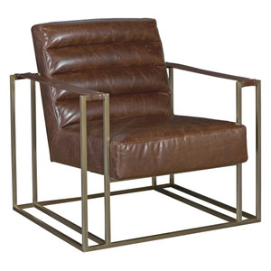 Jensen Modern Brown Leather Club Chair