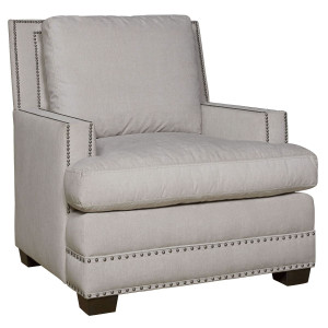 Franklin Upholstered Accent Chair with Nailheads