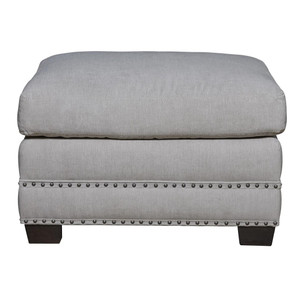 Franklin Upholstered Ottoman with Nailheads