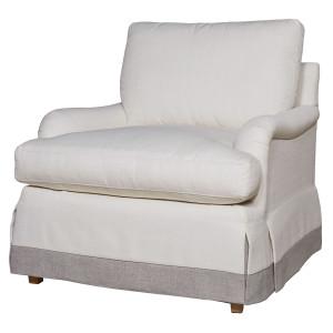 Carmichael English Rolled Arm Skirted Chair