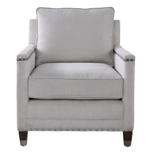 Merrill Upholstered Accent Chair with Nailheads