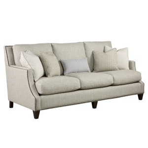 Brady 3-Seat Scoop Arm Sofa with Nailheads