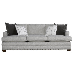 Riley Upholstered 3-Seat Sofa with Nailheads