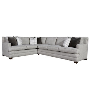 Riley 2-Piece Sectional Sofa with Nailheads - LAF
