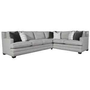 Riley 2-Piece Sectional Sofa with Nailheads - RAF