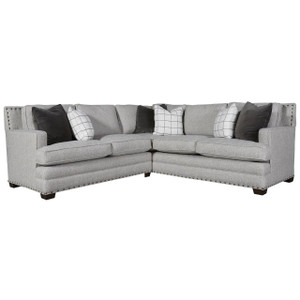 Riley 2-Piece Corner Sectional Sofa with Nailheads 96""