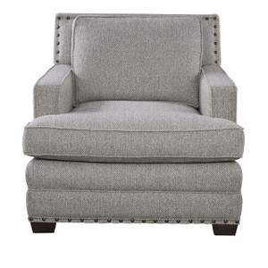 Riley Upholstered Accent Chair with Nailheads