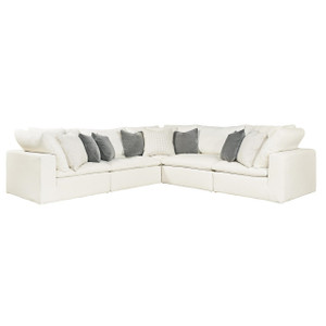 Palmer Coastal Beige 5-Pc Corner Sectional Sofa