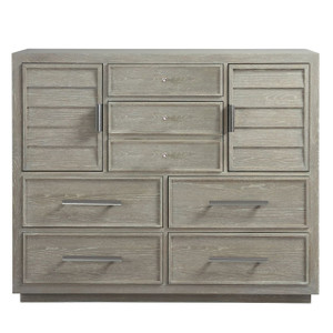 Coastal Zephyr Gray 6 Drawers Dressing Chest