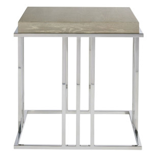 Coastal Zephyr Grey End Table