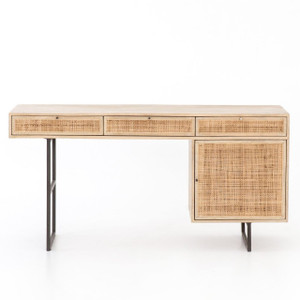 Audrey Woven Wicker Writing Desk 60""