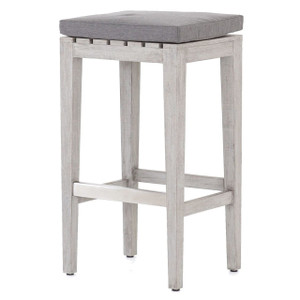 Dale Grey Teak Outdoor Bar Stool