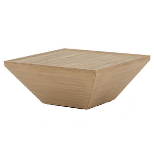 Delwin Brown Teak Square Outdoor Coffee Table 36""
