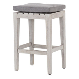 Dale Grey Teak Outdoor Counter Stool