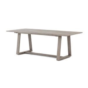 "Atherton Grey Teak Outdoor Dining Table 87"""