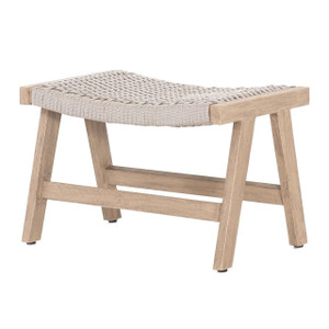 Delano Natural Teak Outdoor Rope Ottoman