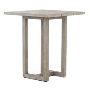 "Stapleton Grey Teak Wood Square Outdoor Bar Table 36"""