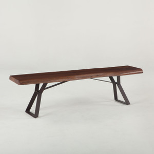 Brooklyn Loft Live Edge Dining Bench 72""