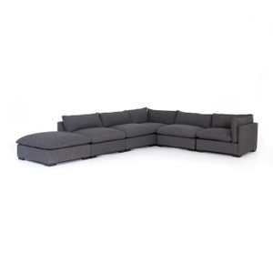 Westworld Modern Gray 6-Piece Modular Sectional Sofa 158""
