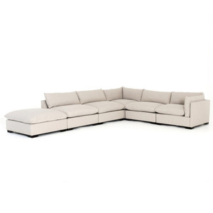 Westworld Modern Beige 6-Piece Modular Sectional Sofa 158""