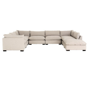 Westworld Modern Beige 8-Piece U-Shape Sectional Sofa 156""