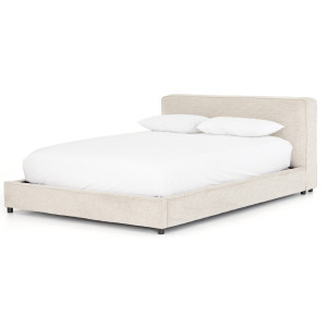 Aidan Low Profile Upholstered Queen Platform Bed