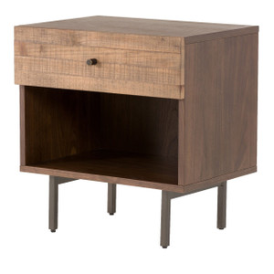 Harlan Reclaimed Wood 1-Drawer Nightstand