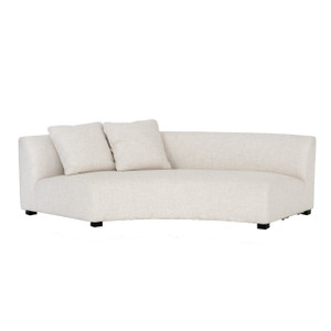 Liam Modern Cream Curved Sofa 106""