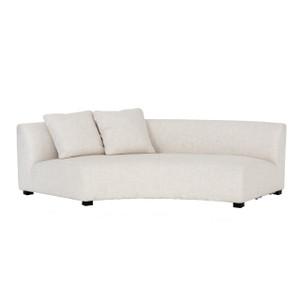 "Liam Modern Cream Curved Sofa 106"""