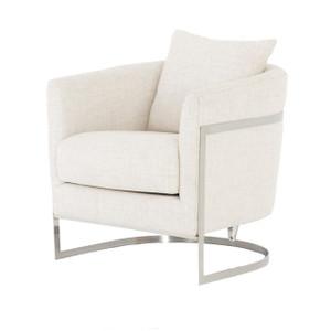 Liam Modern Cream Curved Club Chair