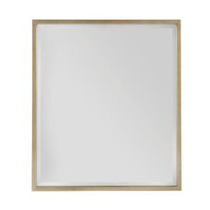 "Soliloquy Antiqued Brass Mirror 39"""