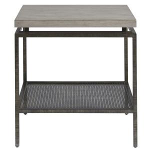 Garrison Concrete Top Bronze Base Side Table