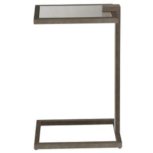 Garrison Bronze Base Antiqued Mirror Top C Table
