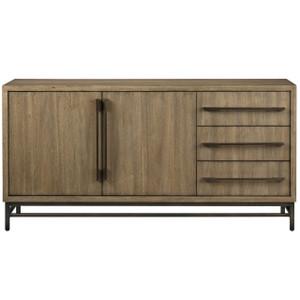"Roland Bronze Metal + Wood Buffet Sideboard 64"""