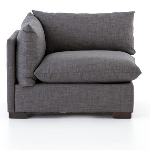 Westworld Modern Gray Left Arm Sectional Chair