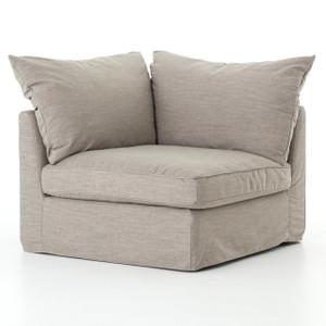Paul Coastal Grey Fabric Sectional Corner Chair