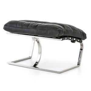 Goodwyn Ebony Leather MR Lounge Ottoman