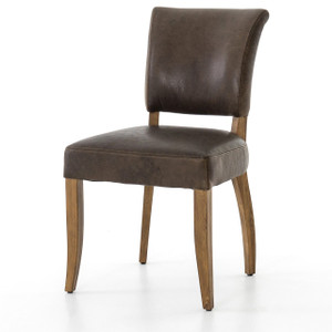 Mimi Pampas Charcoal Leather Dining Chair