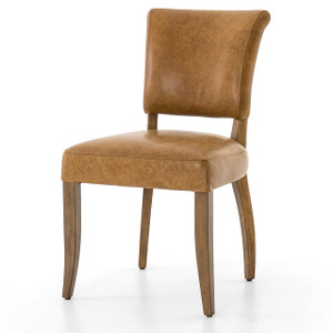 Mimi Pampas Nut Tan Leather Dining Chair