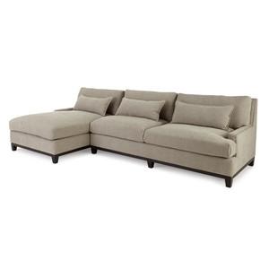 Rena Linen Upholstered Left-Facing Sectional Sofa