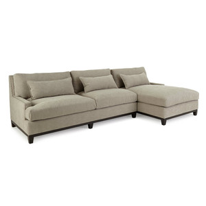 Rena Linen Upholstered Right-Facing Sectional Sofa