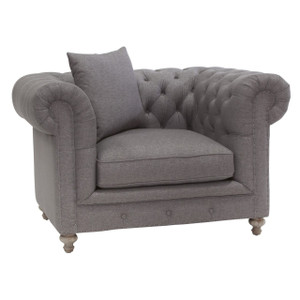 Alice Charcoal Tufted Chair